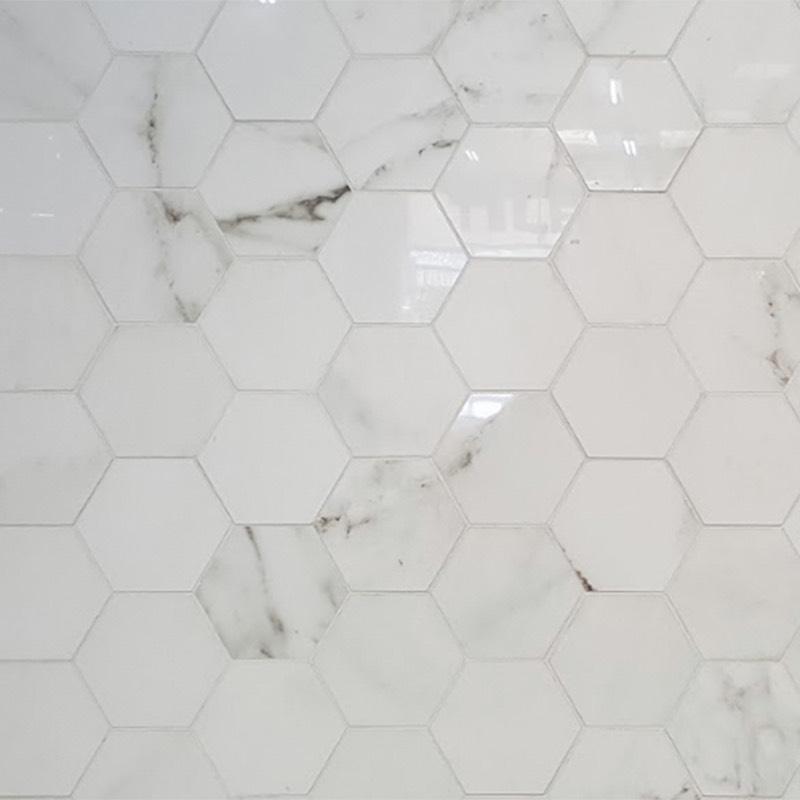 Concrete Floor Finish >> Absolute Carrara Hexagonal Porcelain Tile - Western ...