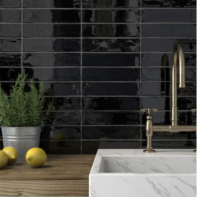 Hand Made Look Black Subway Tile Western Distributors