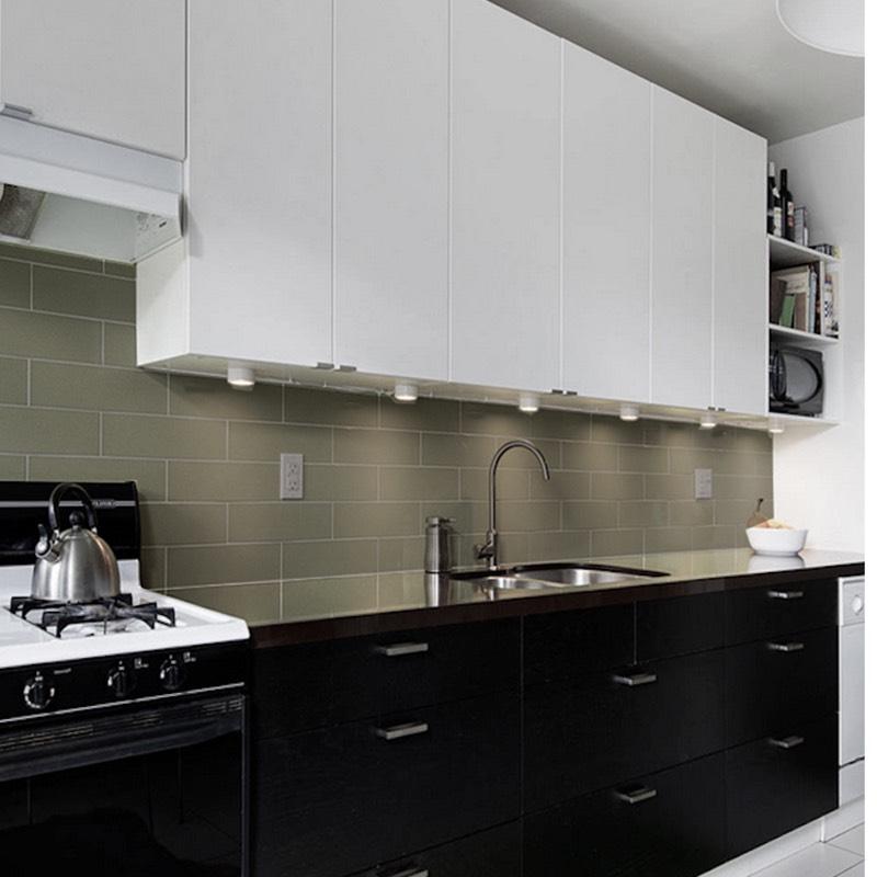 Olive Kitchen Tiles: Matt Olive Subway Wall Tile