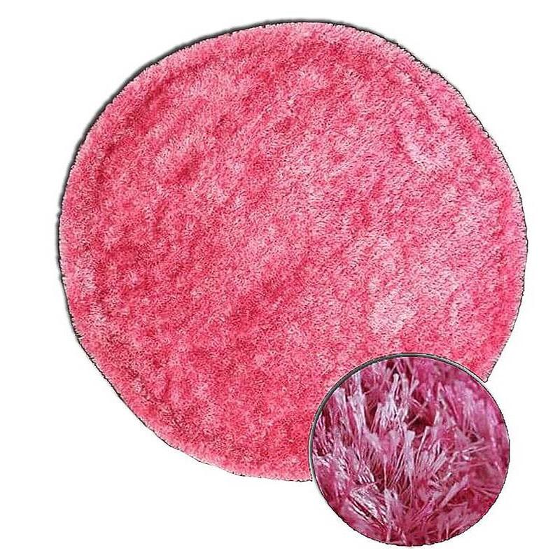 Plush Round Pink Rug sample