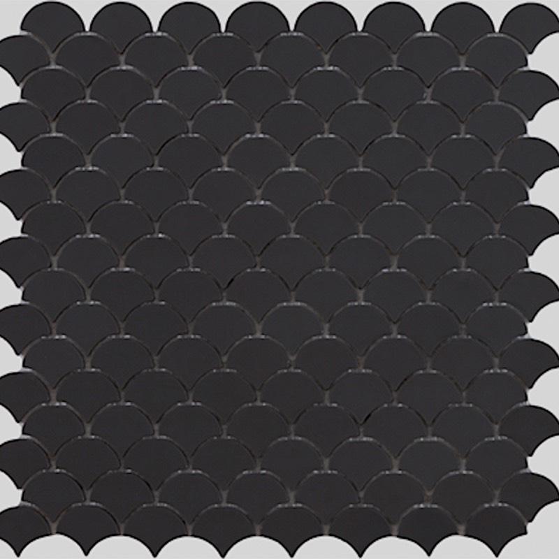 Soul Matt Black Glass Mosaic Tile sample