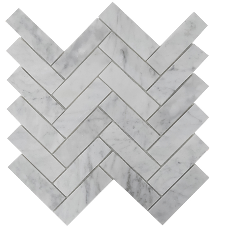 Carrara Honed Marble Herringbone Tile Western Distributors