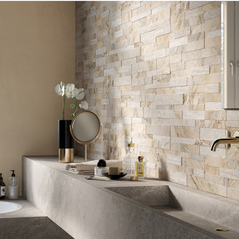 Gioia-Beige Porcelain Feature Wall Tiles
