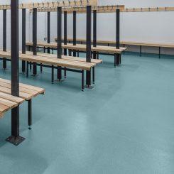 Polysafe Std Cool Aqua Vinyl Flooring
