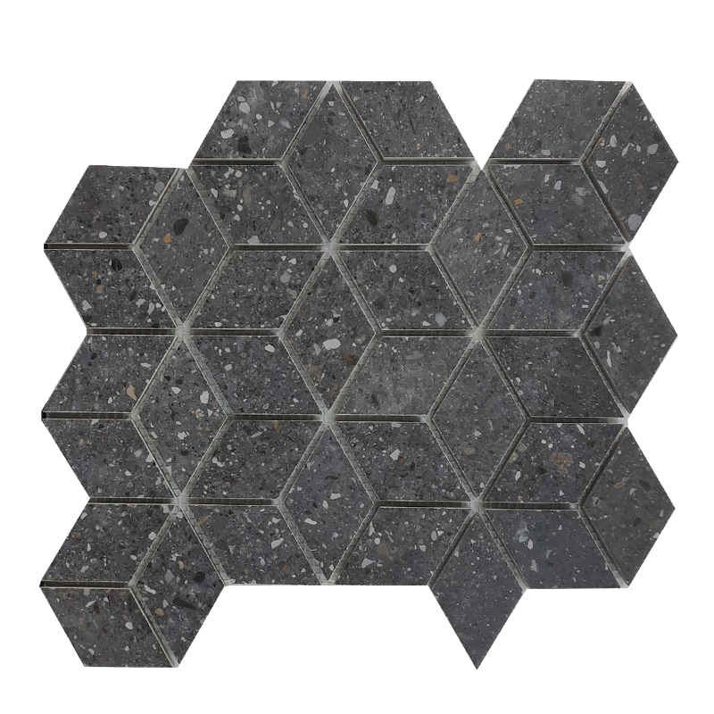 Frammenti Black Porcelain Mosaic sample