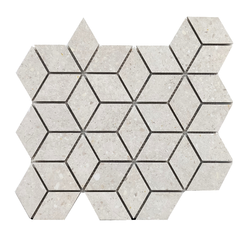 Frammenti White Porcelain Mosaic sample