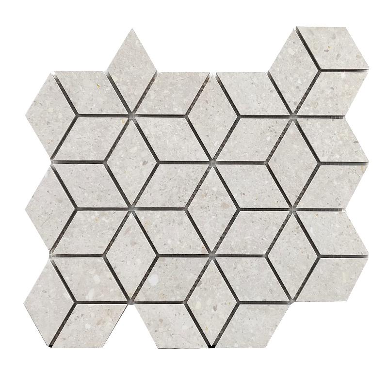 Frammenti White Porcelain Mosaic sample