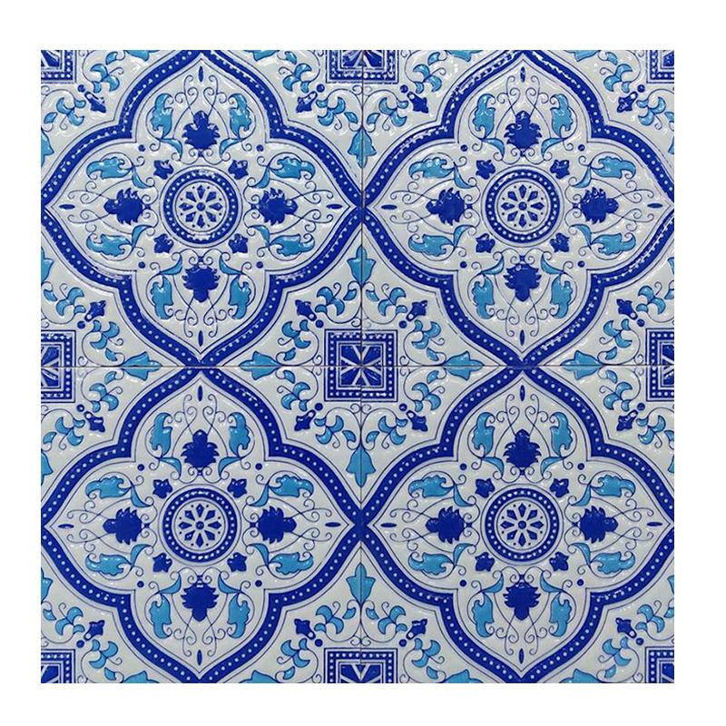 Morocco Persian Blue Gloss Wall Tile sample