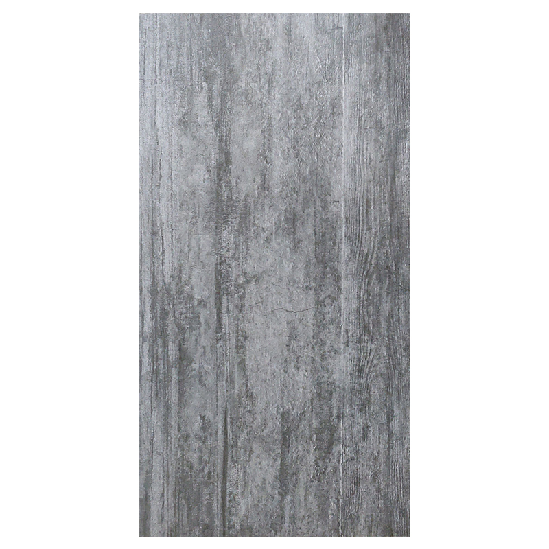 Cement Wood Dark Grey Porcelain Tile sample