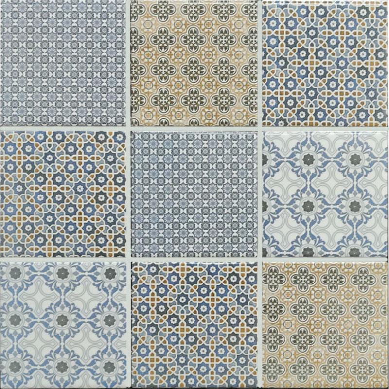 Geobright Blue Mosaic Tile sample