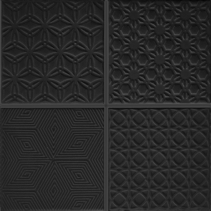 Spirit Black Mosaic Tile sample