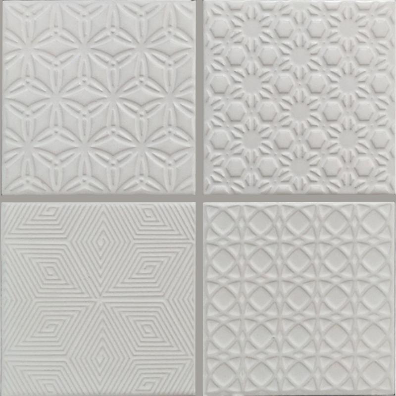 Spirit White Mosaic Tile sample