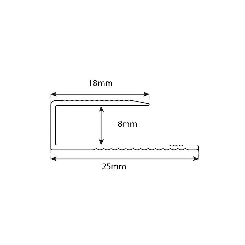 C Channel 8mm 1.8 Lm Trim sample