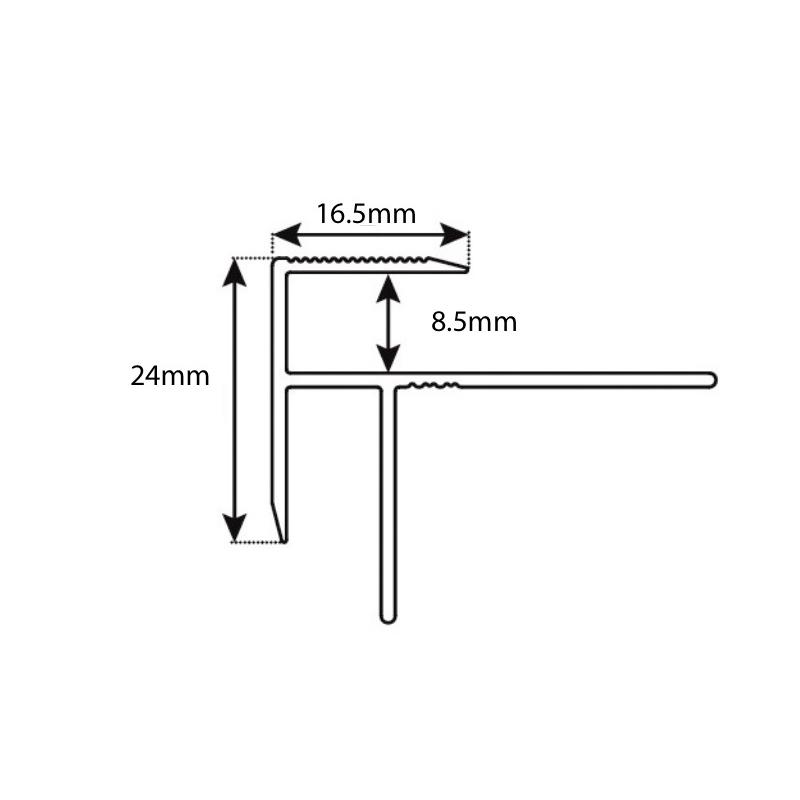 Aluminium 8mm Stair Edge Cover sample