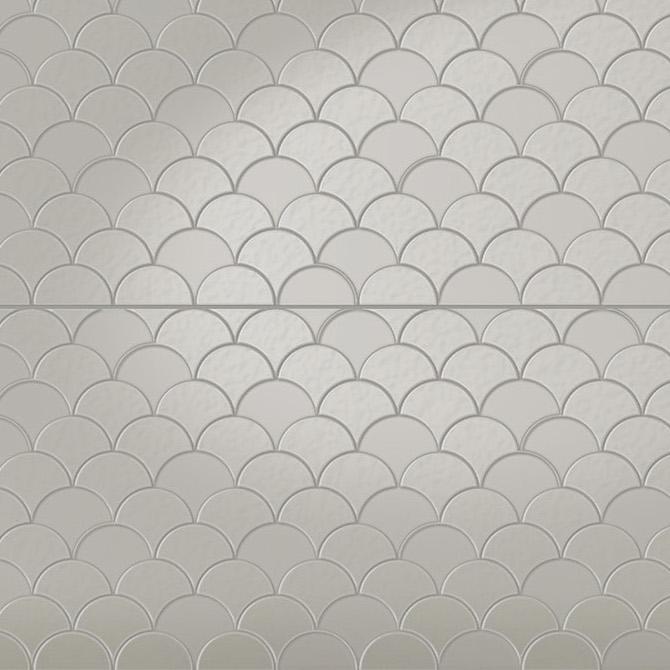 Infinity Koi - Pressed Metal Design Tile sample