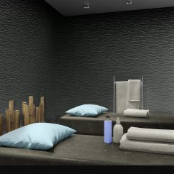 Black Feature Wall Tiles