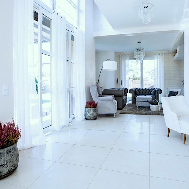 Image result for pure white marble floor