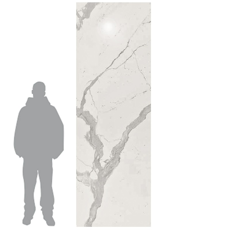 Statuario Levigato Polished Porcelain Tile sample