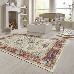 Ivory traditional Rug