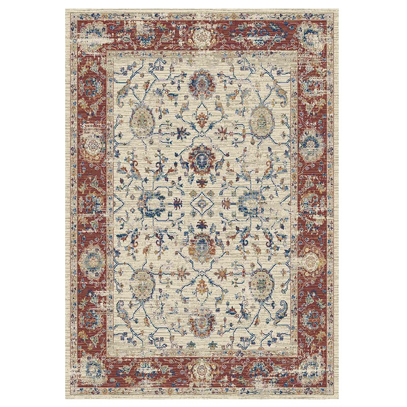 Fiano 6552 Ivory Red Rug sample