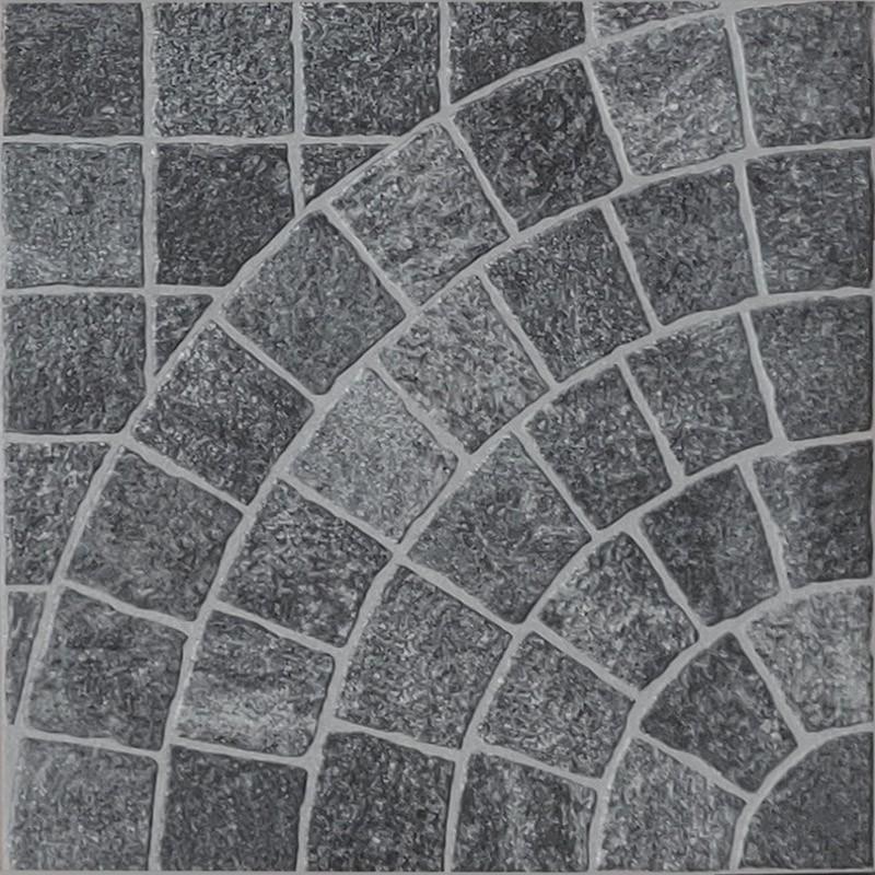Valeria Grafite Arco Porcelain Cobble Tile sample