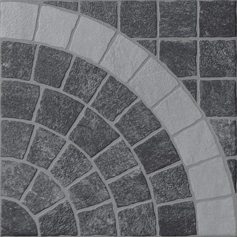 Valeria Grafite Arco Bianco Porcelain Cobble Tile sample