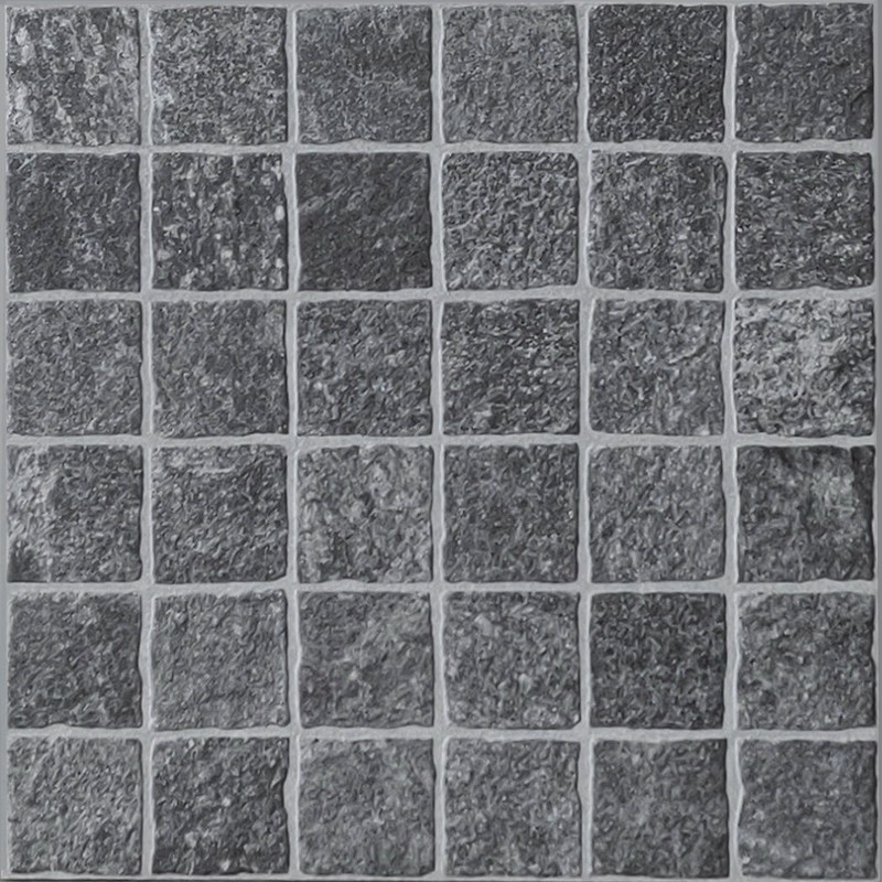 Valeria Grafite Lineare Porcelain Cobble Tile sample