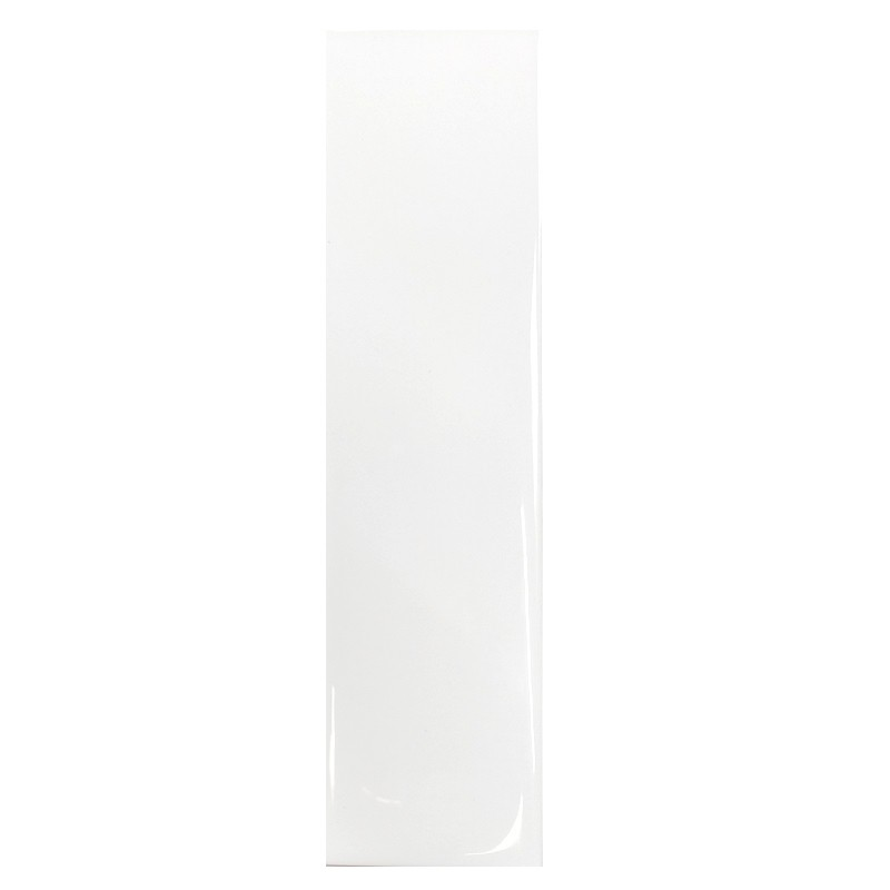 White Gloss Ripple Slim Subway Wall Tile sample