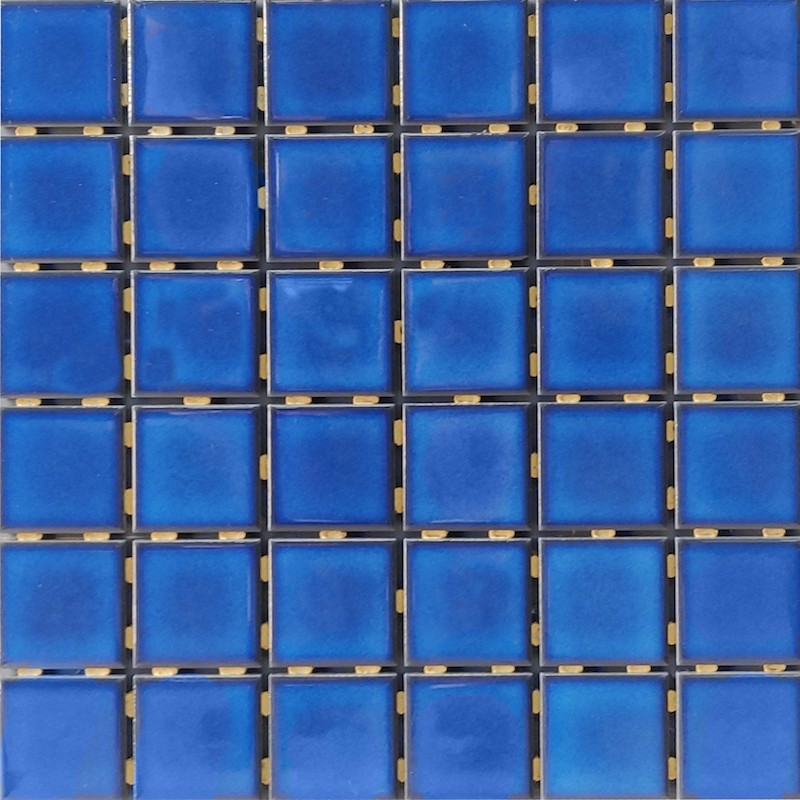 SP4823 Mid Blue Ceramic Mosaic Tile sample