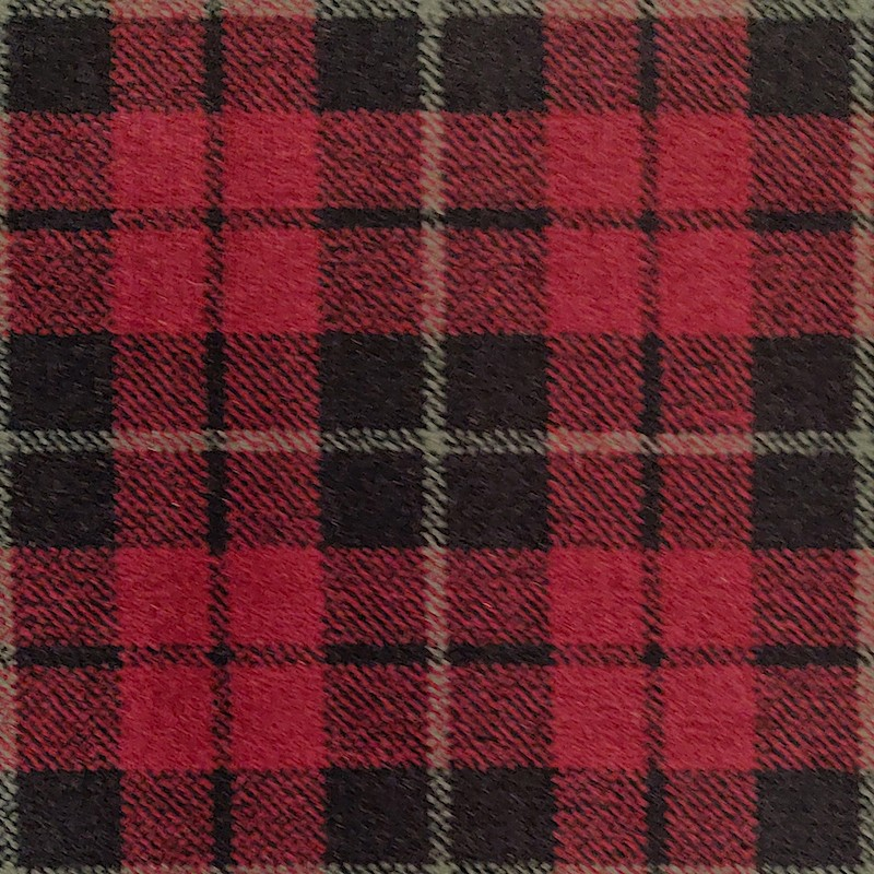 Tartan Burgundy Carpet sample