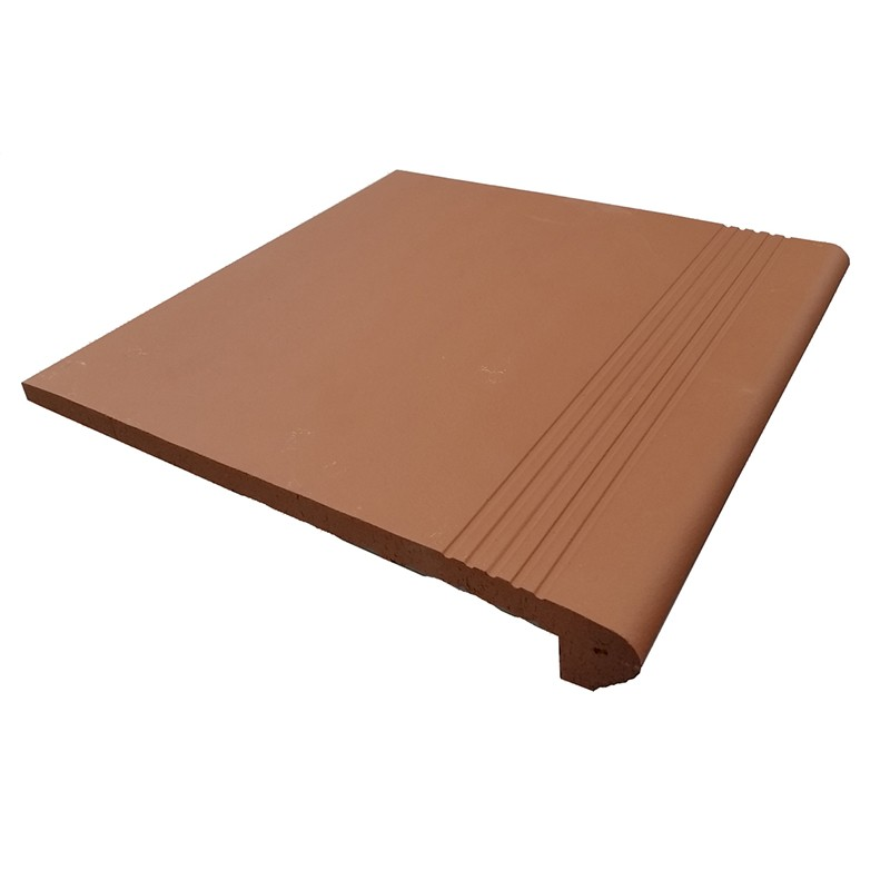 Alice Red Terracotta Bullnose Tile sample