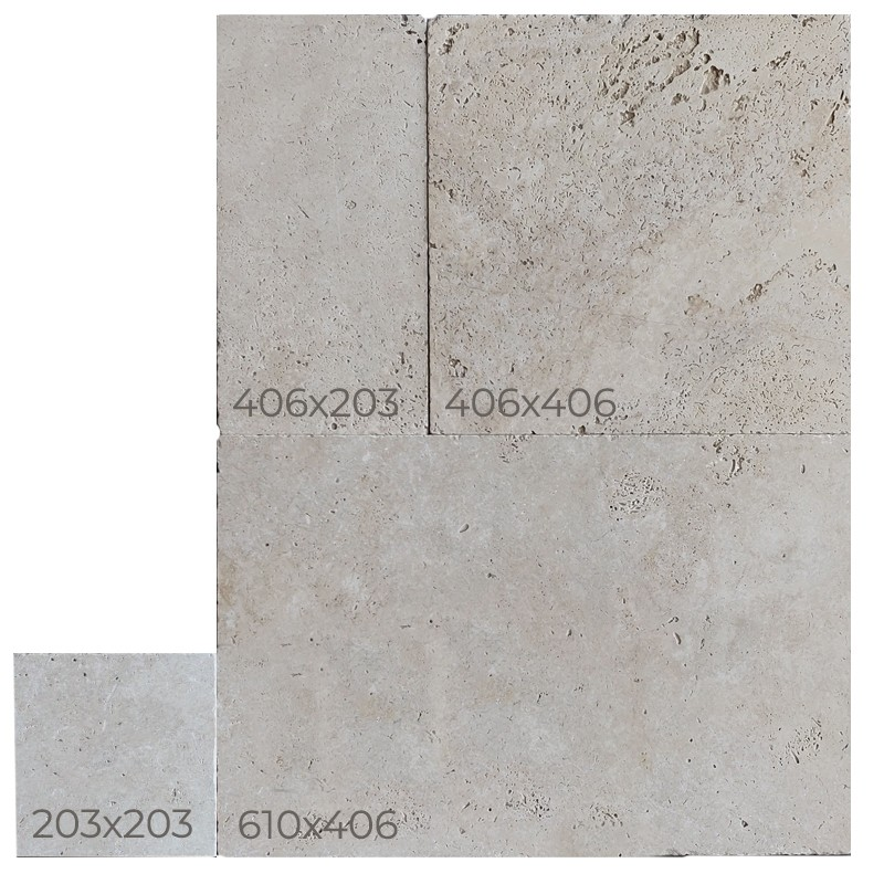 Classic Travertine Tumbled French Pattern Tile sample