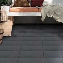 Stone Black Porcelain Tile
