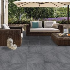 Dark Grey Porcelain Paver Tile