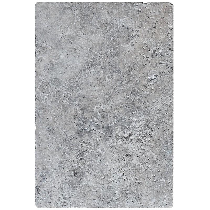 Silver Travertine Tumbled  Tile sample