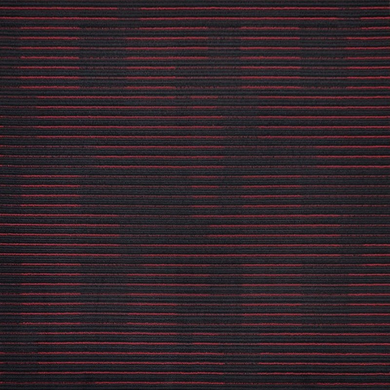 Arizona Red On Black Carpet Tile sample