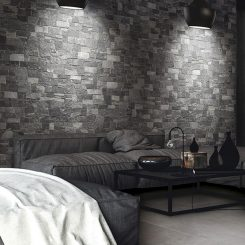 Lyon Dark Porcelain Feature Wall Tiles