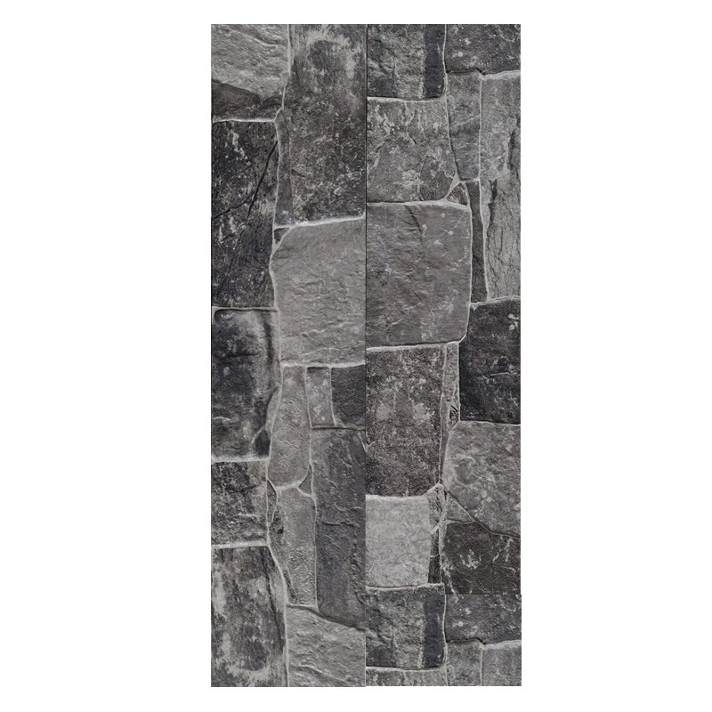Lyon Dark Porcelain Feature Wall Tiles sample