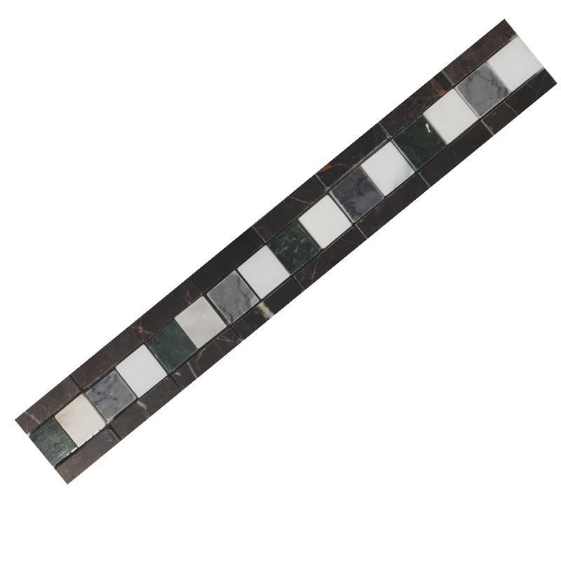 EN 05-60 Gris Marble Border Tile sample