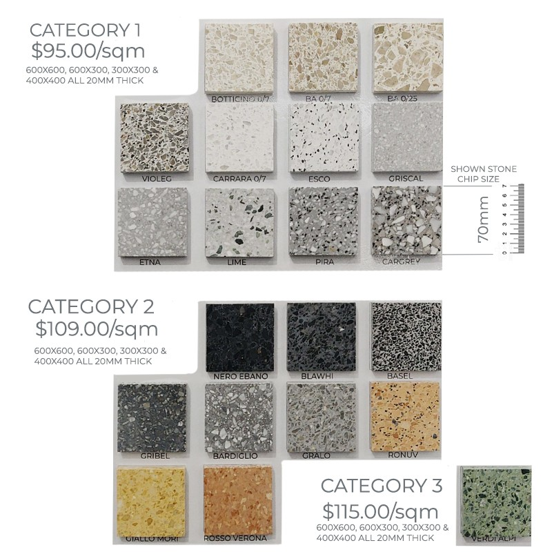 Order In Terrazzo  Honed Tiles sample