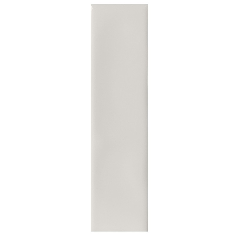 Ivory Gloss Ripple Slim Subway Wall Tile sample