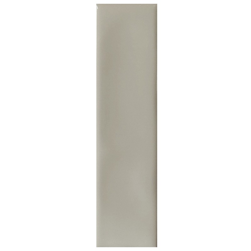Taupe Gloss Ripple Slim Subway Wall Tile sample