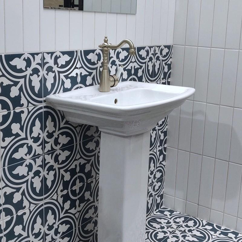 Shadow Navy Blue Feature Tile Western, Navy Blue Bathroom Tiles