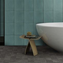 Brushed Teal Ceramic Wall Tile