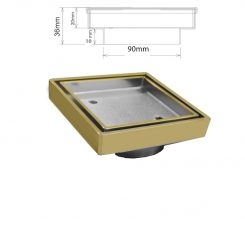 Chrome Plated Ancient Brass Square Drain Tile In