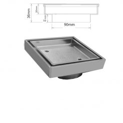 Chrome Plated Brass Square Drain Tile In