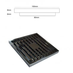 Square Chrome Plated Floor Drain Grate