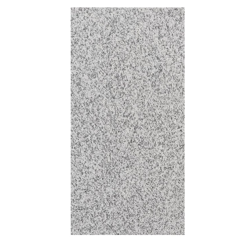 White Flamed Granite Paver Tile sample