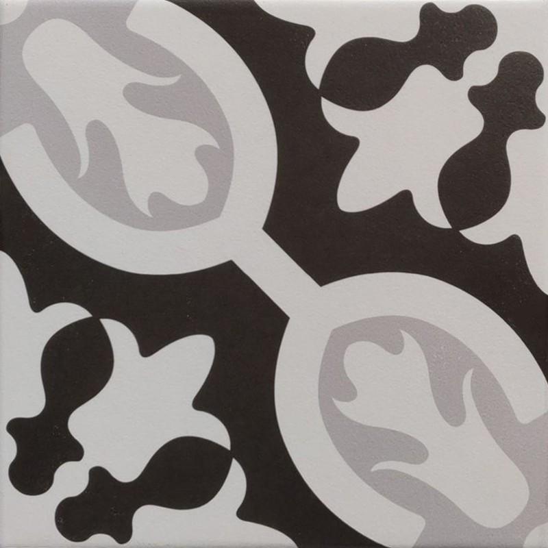 Poppy Black & White Feature Tile sample
