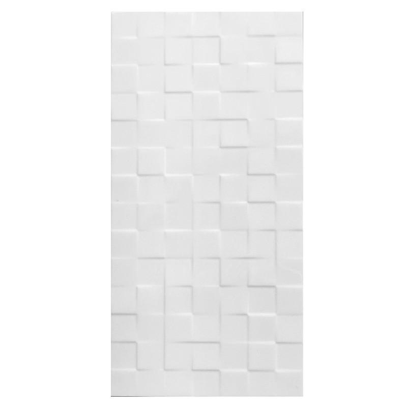 White Square Gloss Ceramic Tile sample
